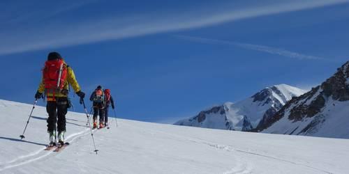 Les Dômes de Miage à skis