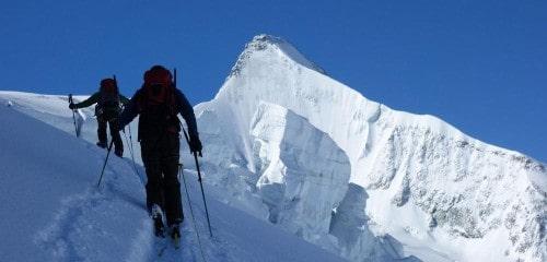 Raid à ski à Zinal - la Couronne Impériale