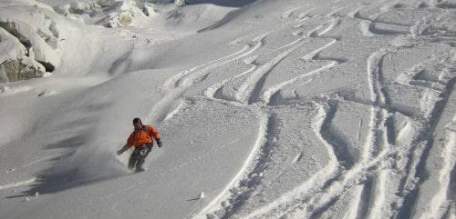Descente du glacier de Toule