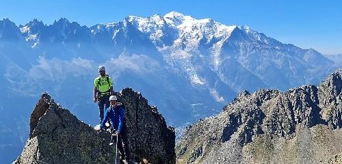 Escalade à Chamonix avec un guide