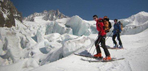 Ski de randonnée à Chamonix avec un guide