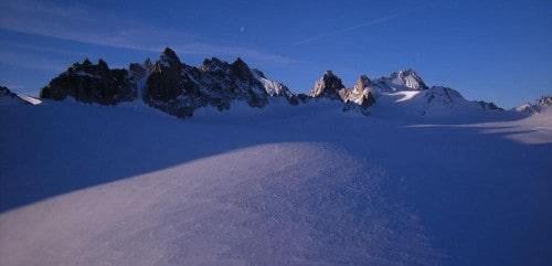 Raid à ski Argentière - Trient