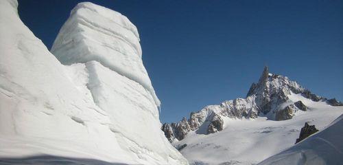 Ski de randonnée sur les glaciers de la Vallée Blanche