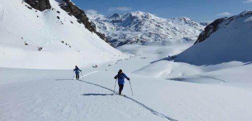 Raid à ski moderato à Névache, vallée de la Clarée