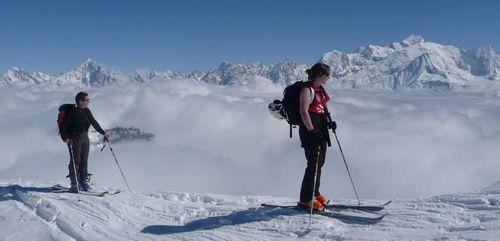 Ski de randonnée initiation à Flaine