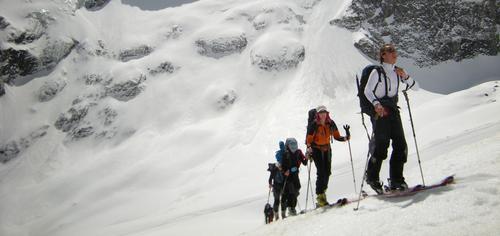 Raid à ski aux sources de la Romanche