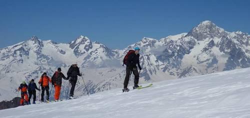 Raid à skis au Ruitor