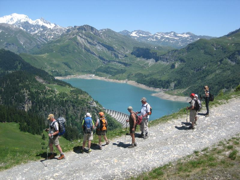 Tour du Beaufortain - Lac de Roselend